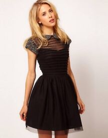 Womens Black Asos Embellished Dress - Size 8