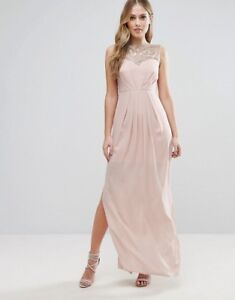 Lipsy Sweetheart Maxi Party Evening Cocktail Dress With Embellished Bust UK8