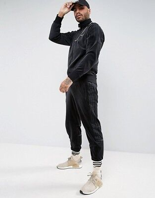 LARGE FULL TRACKSUIT Adidas Originals Mens Challenger Velour Top & Pants CLR84