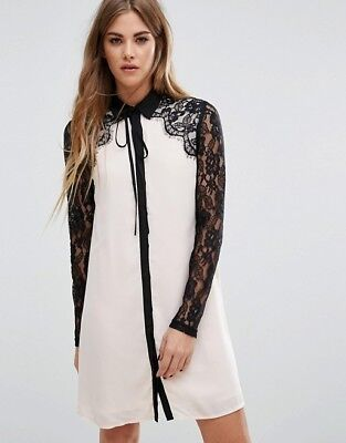 ASOS Lace Ribbon Dress Size S for sale  Shipping to India