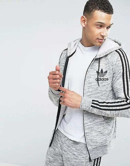 Adidas Originals California Hooded Tracksuit Marled Gray BK5903 2XL