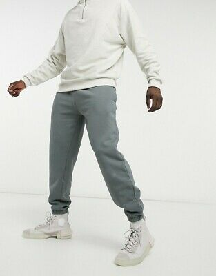 Men's Topman Oversized Washed Joggers Sweatpants Size L - Grey