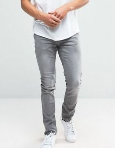 Brand New With Tags Mens Forever 21 Grey Skinny Jean $20 36x32