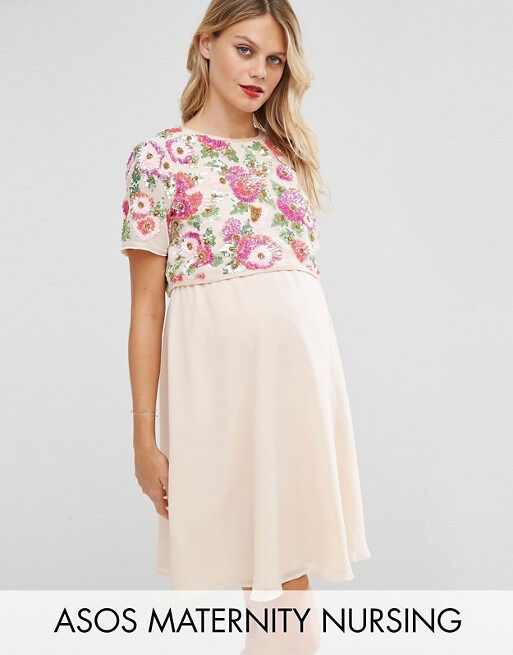ASOS occasion maternity/nursing dress