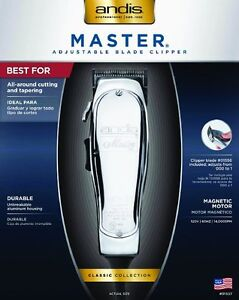 Andis Master 15-Watt Adjustable Blade Hair Clipper, Silver (0155