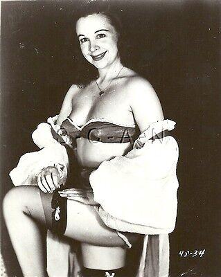 Original 1940s-60s Vintage Nude Pinup RP- Old Fashion Bra- Panties- Stockings