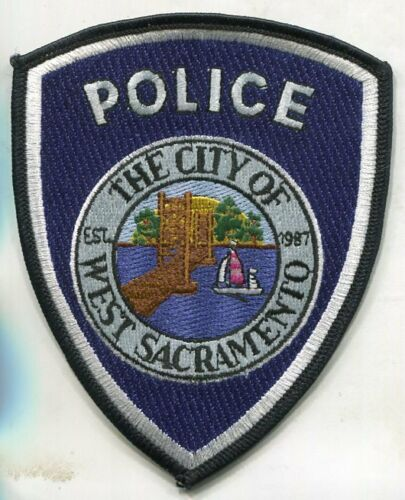City of WEST SACRAMENTO CALIFORNIA POLICE PATCH UNUSED