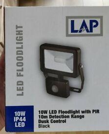 Lap led floodlight 10w led with pir 10m detection