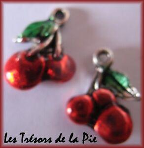 1-perla-ciondolo-CILIEGIA-13x14mm-Rosso-amp-verde