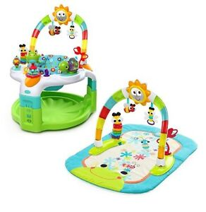 Bright Stars 2 in 1 Laugh and Lights Activity Gym and Saucer