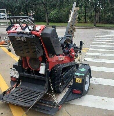 2016 Barreto 2024-tk Walk-behind Steerable Track Trencher 18hp Honda Gas Engine