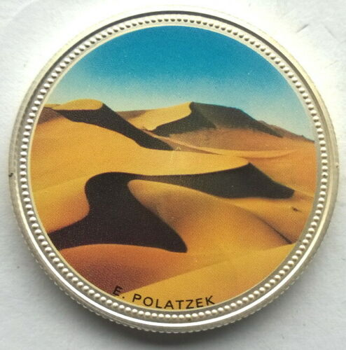 Namibia 1995 Desert 10 Dollars ESSAI Silver Coin,Proof,Rare!