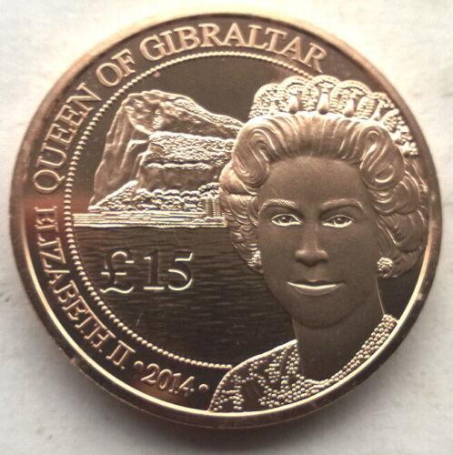 Gibraltar 2014 Queen 15 Pounds Red 1oz Silver Coin,BU
