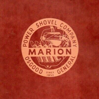 Marion 372 Power Shovel General Operation And Maintenance Manual Oem Devilbiss