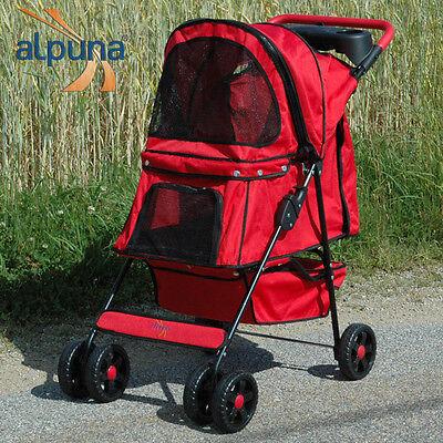 ALPUNA Tierbuggy Artur rot / Pet Stroller Hundewagen Katzenwagen Hundebuggy