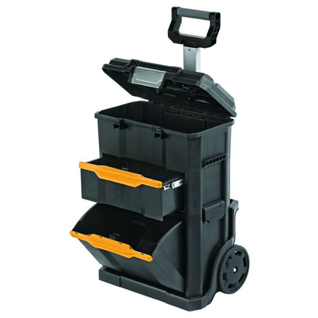 2 in 1 Rolling Workshop Tool Box Mobile Cart Work Center Mec