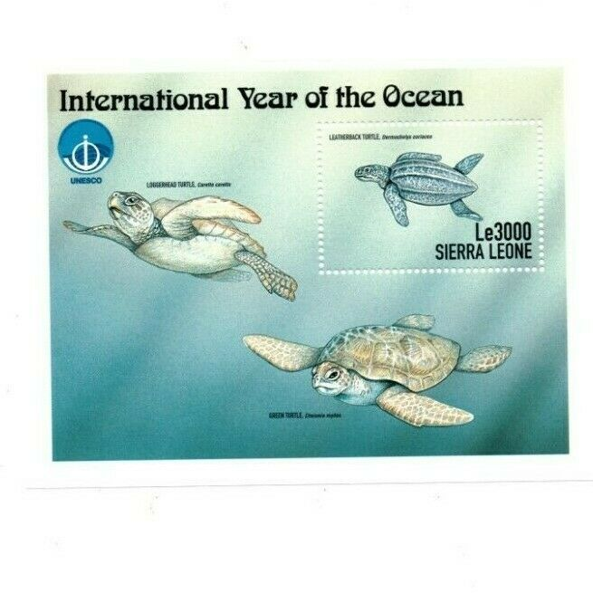 VINTAGE CLASSICS - Sierra Leone - Year Of Ocean - Souvenir Sheet - MNH - $2.61