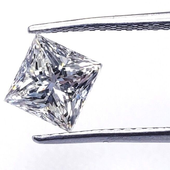 1/2 CT Princess Cut L Color SI1 Clarity Natural Loose Diamond GIA Certified