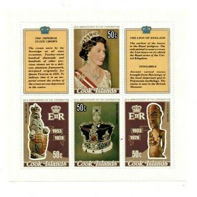 Cooks Island 1978 486 - Queen Elizabeth Coronation - Sheet Of 4 - MNH