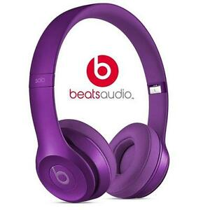 NEW OB BEATS SOLO2 HEADPHONES IMPERIAL VIOLET - ON-EAR - SOLO 2 81960563