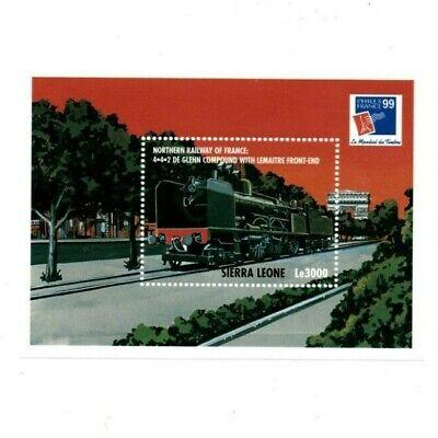 VINTAGE CLASSICS - Sierra Leone - Filex France Train - Souvenir Sheet - MNH