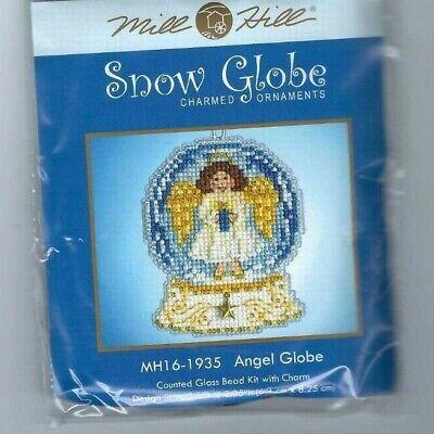 Christmas Angel Snow Globe Ornament Cross Stitch Kit Mill Hill