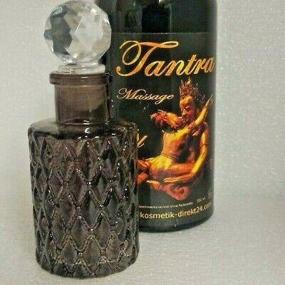 Massageöl Tantra 500 ml für Partnermassage Massageöl mit einer Deko Glasflasche