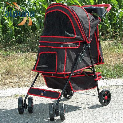 ALPUNA Tierbuggy Artur schwarz / Pet Stroller Hundewagen Katzenwagen Hundebuggy