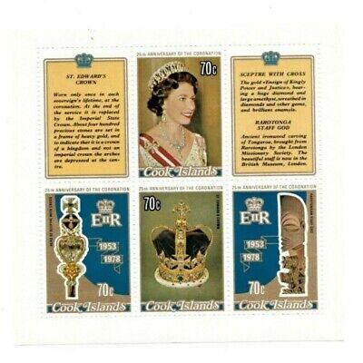 Cooks Island 1978 487 - Queen Elizabeth Coronation - Sheet Of 4 - MNH