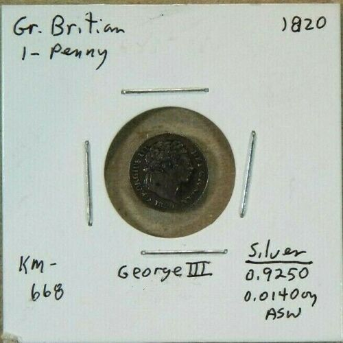 1820 Great Britain 1 Pence Maundy