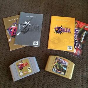 Jeux N64 Zelda majora's mask et orcarina of time