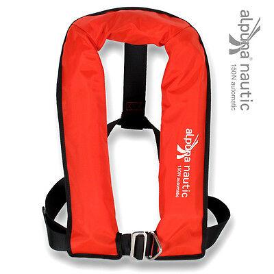 Vollautomatik-Rettungsweste rot 150N EN ISO 12402-3 automatik Schwimmweste