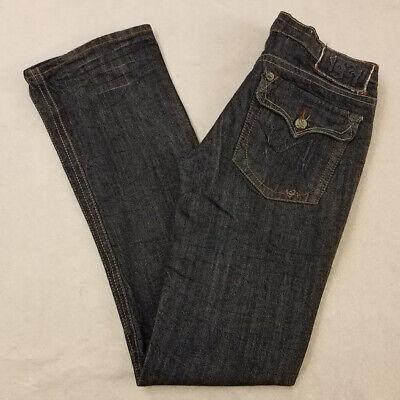 1921 Jeans Size 27 Blue Bootcut Stretch Full Length Cotton Blend Dark Wash Women 1921 Jeans Cotton Jeans