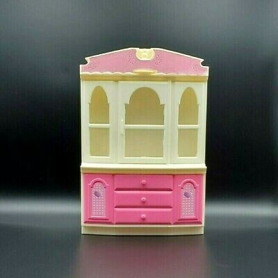 Barbie Furniture China Cabinet Hutch GOLDLOK Toys 2002 Replacement Parts Used
