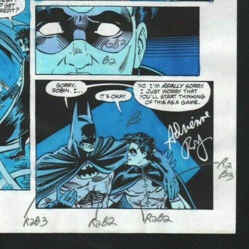 DETECTIVE #646 BATMAN PG 22 ORIGINAL COMIC PRODUCTION ART ADRIENNE ROY