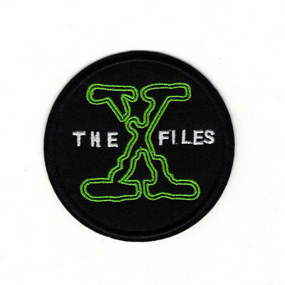 X files Round Logo embroidered Patch 3 inches tall