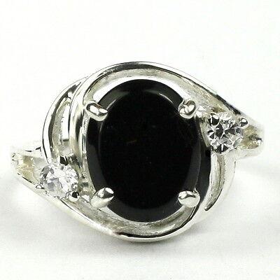 Sterling Silver Onyx Ladies Ring (Black Onyx, Solid 925 Sterling Silver Ladies Ring,)