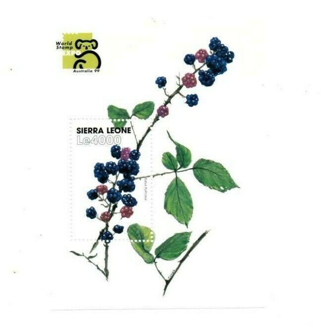 VINTAGE CLASSICS - Sierra Leone - Flowers - Souvenir Sheet - MNH - $0.89