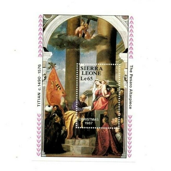 VINTAGE CLASSICS - Sierra Leone 948 - Christmas 1987 - Souvenir Sheet - MNH - $0.89