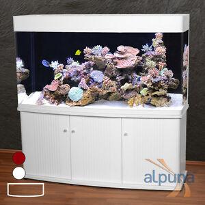 rg 150 panorama aquarium t5 meerwasseraquarium 500 liter wei ebay. Black Bedroom Furniture Sets. Home Design Ideas
