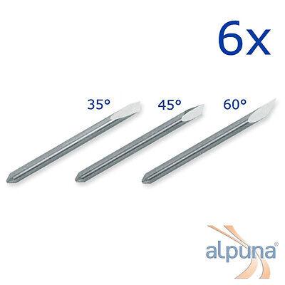 6 Plotters 60° for Summa D Summagraphics Summa-D - ALPUNA Quality blades