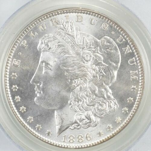 Fresh BU 1886 Morgan Silver Dollar $1.00 Philadelphia - Uncirculated Condition