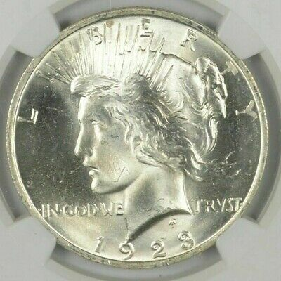 (1) 1923 Peace Silver Dollar Uncirculated BU Condition - From roll!