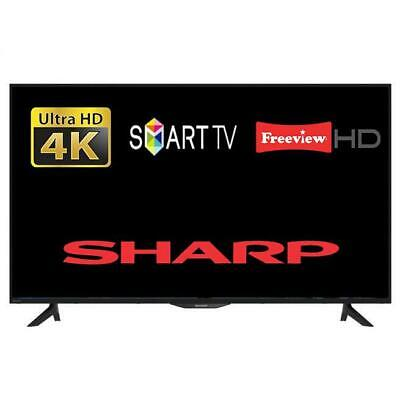 "Sharp 50BJ2KO 50"" Smart LED TV 4K Ultra HD With Freeview HD And Freeview Play"