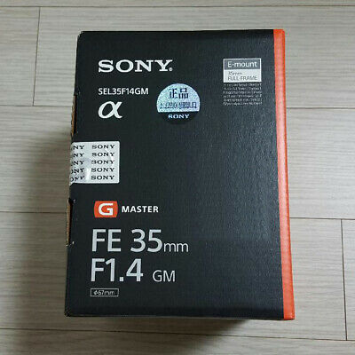 Sony FE 35mm F1.4 GM Camera Lens SEL35F14GM Genuine