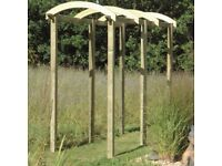Pergola Components (using Laminated Arch)