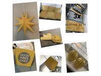 Mustard bedroom accessories *free delivery if local*