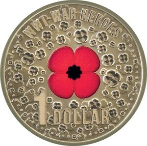 2015 WW1 Red Poppy $1 coin Fremantle Fremantle Area Preview