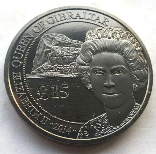 Gibraltar 2014 Queen 15 Pounds 1oz Silver Coin,Black UNC Type