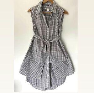 COUNTRY ROAD check plaid gingham Shirt Dress sz 12
